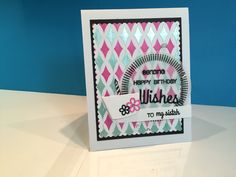 Stencil and embossing paste Birthday