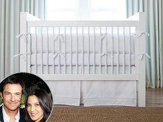Jason Bateman & Amanda Anka welcomed daughter Maple with Carousel Designs custom fabrics for the nursery and Mabel's Labels