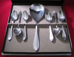 581puddingset Pudding, Flatware, Tray, Art Deco, Tableware, Dinnerware, Puddings, Cutlery, Dishes