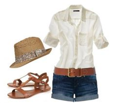 simple but so cute!  Great Vegas outfit.  Since I don't wear flats... I would wear wedges :)