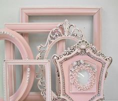 Shabby Chic Frames Pastel Pink Picture by MountainCoveAntiques, $78.00