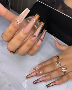 """The Nail Lab®️LLC 🧪 (@iamroyal.ti) posted on Instagram: """"It's everything for me 😩😍😍"""" • Sep 4, 2020 at 11:13pm UTC Acrylic Nails Coffin Pink, Square Acrylic Nails, Fall Acrylic Nails, Edgy Nails, Sassy Nails, Aycrlic Nails, Grunge Nails, Gorgeous Nails, Pretty Nails"""