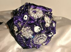 "nightmare before christmas wedding theme | Amanda's ""Nightmare before Christmas "" themed wedding bouquet. by ..."