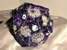 "nightmare before christmas wedding theme | Amanda's ""Nightmare before Christmas "" themed wedding bouquet. by ..."