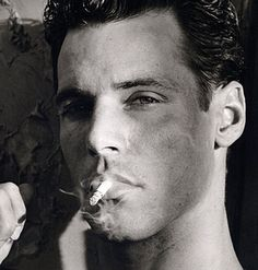 Bruce Hulse by Herb Ritts Male Photography, Fashion Photography, Herb Ritts, Elton John Aids Foundation, Man Smoking, Industrial Photography, Most Beautiful People, Old Models, Old Pictures