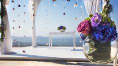 Whimsical Santorini Wedding