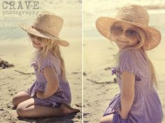 Adorable. Floppy hat and sunglasses... makes me long for summer!