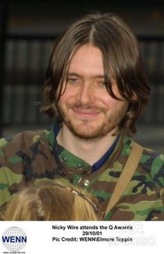 Nicky Wire at the Q awards