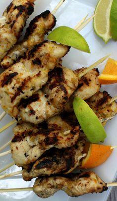 Grilled Citrus Chicken Kabobs