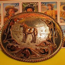 FANTASTIC FANCY Horse Head Western Buckle COMSTOCK Belt Buckle MAKE OFFER $245.00 or Best OfferItem image