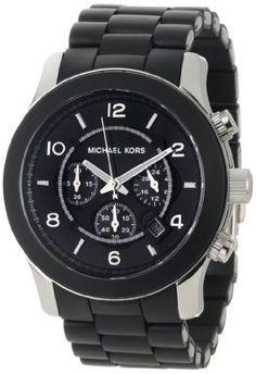 1d37da7f64f3 Michael Kors Men s MK8107 Oversize Black Silicone Runway Watch  Michael   Kors  Mens
