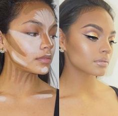 Perfect contouring and highlighting right into the clavicals Perfekte Konturierung und Hervorh Beauty Care, Beauty Makeup, Eye Makeup, Beauty Hacks, Hair Makeup, Hair Beauty, Strobing Makeup, Makeup Brushes, Face Makeup Tips