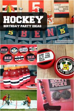Shoot and score big with little hockey fans by sticking with the top décor, activity and treat ideas seen in this winning boy's hockey birthday party! Hockey Birthday Parties, Hockey Party, Sports Birthday, Sports Party, Birthday Party Games, Birthday Fun, Birthday Ideas, Hockey Birthday Cake, Hockey Wedding