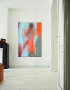 Large Abstract Schilderij  Orange Haze  Acrylic door RonaldHunter, $329.00