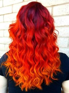 bright+red+ombre+hair