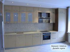 Современная прямая кухня под дерево за 8400$ длиной 4,2 метра
