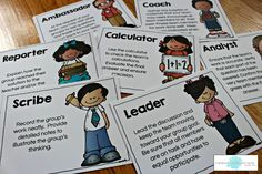 Cooperative Learning: Using student Role Cards to promote effective student learning teams. (With awesome FREEBIES!)