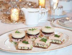 Chocolate Pancetta & SmokedHam TeaSandwiches.