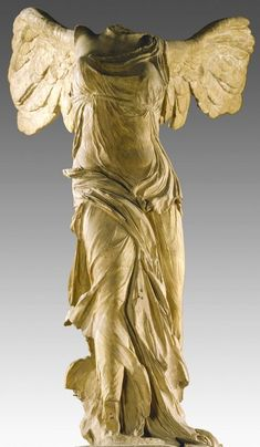 circa BC Samothrace Parian marble for the statue and gray Rhodian marble for the boat and base total H. m Champoiseau expeditions of 1879 and 1891 Paris, Musée du Louvre, MA 2369 Archaic Greece, Ancient Greece, Pablo Picasso, Winged Victory Of Samothrace, Hellenistic Period, Outdoor Statues, Angels And Demons, Greek Gods, Victoria