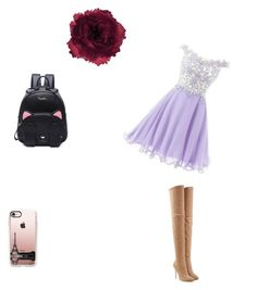"""Prom"" by heidi-brooks ❤ liked on Polyvore featuring Balmain, Casetify and Accessorize"