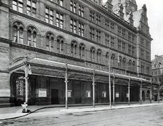 Walter Macfarlane & Co supplied an ornamental cast iron carriage and motor car canopy at the entrance to Glasgow Central Station, shown in this photograph c Glasgow Scotland, England And Scotland, Glasgow Central Station, Glasgow Architecture, Take The High Road, Glasgow City, Uk History, Places Of Interest, Best Cities