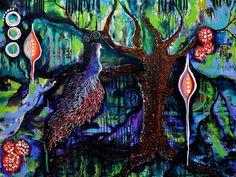 """Forest Secrets"" 36x24x1.  Acrylic on canvas.  Copyright 2014 Pamela Cisneros.  Available at www.PamelaCisneros.com"