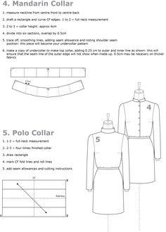 drafting collars mandarin collar