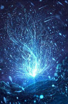 Teal and black floral magic spell artwork, fantasy art, magic hd wallpaper Galaxy Wallpaper, Wallpaper Backgrounds, Wallpapers, Nature Wallpaper, Anime Pokemon, Fantasy Places, Anime Scenery, Fantasy Landscape, Landscape Art
