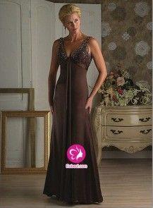 Mode de bal Col en V Longueur ras du sol Robe mère de mariés 2012 en Mousseline polyester avec paillette FR0251955