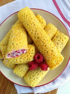 Naleśniki z malinowym twarożkiem z nerkowców (bez glutenu, cukru, wegańskie) – Na Kuchennym Progu