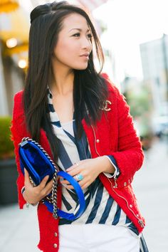 Happy Fourth :: Red tweed jacket