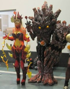 Wildfire Zyra and Charred Maokai League of Legends Cosplay