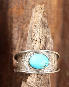 Unique en son genre, sud-ouest turquoise bague, bague d'amérindienne, anneau en pierre turquoise, ba
