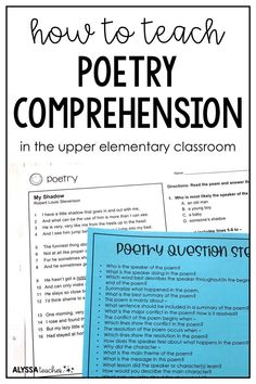How to Teach Poetry Comprehension (3rd, 4th, 5th Grade)