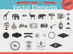 Free 26 Adventure And Travel Vector Elements