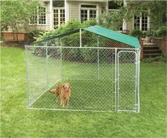 Fence Master Dog Kennel E-Z Roof for Kennels- 10' x 10'