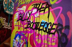 Billy Bootleggers Newcastle Bar | Graffiti Wall | Elle Blonde Luxury Lifestyle Blog Billy Bootleggers: Newcastle, Underground Moonshine Dive Bar