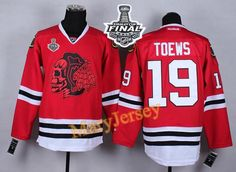 Only $34.88 please email me at maryjerseyelway@gmail.com for Blackhawks 19 Jonathan Toews Red(Red Skull) 2015 Stanley Cup Stitched NHL Jersey