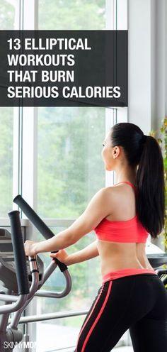 Burn that milkshake with these elliptical workouts.