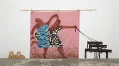 Lubaina Himid, Freedom and Change, 1984, acrylic on ply, fabric and mixed media, 290 × 590cm