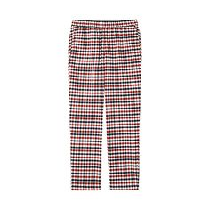 These lounge pants are made with thick flannel. The pre-washed fabric makes them extra soft and comfortable. They feature a loose fit with a narrow lower leg for a look that's stylish enough to wear outside. Featured in a classic check print.