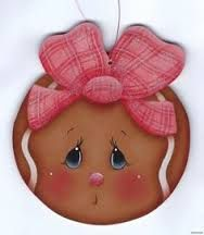 bota navideña con carita de jengibre - Buscar con Google Gingerbread Ornaments, Christmas Gingerbread, Christmas Wood, Man Crafts, Tole Painting Patterns, Snowman Faces, Pintura Country, Painted Ornaments, Country Crafts