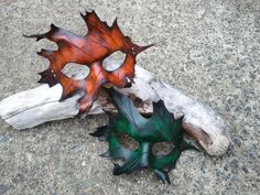 I'm going to learn how to make these, and other leather masks.  Aren't they cool?
