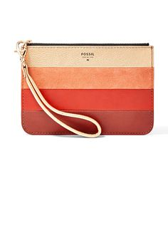 Actress Ahna O'Reilly Shares Her Holiday Wish List The Bag: #Fossil leather patchwork medium zip pouch