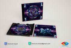 Modèle d'exemple pochette CD artiste musical