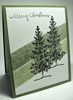 lovely as a tree stampin up cards | Masking tape technique, Stampin Up lovely as a tree