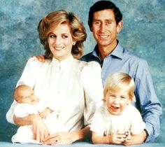 October 11, 1984: Prince Charles, Princess Diana with their children, Prince William and Prince Harry portrait taken by Lord Snowdon at Kensington Palace.