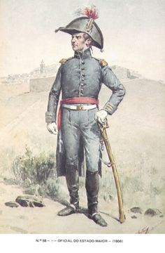 Ufficiale di stato maggiore Portugal, Military Insignia, Napoleonic Wars, Military History, Army, Military Uniforms, Antiques, Soldiers, Spain