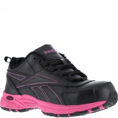 416aab15976 RB482 Reebok Women s Cross Trainer Safety Shoes - Black Pink www.bootbay.com