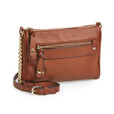 BP. Double Stud Crossbody Bag - Do you need a simple purse that makes a big impression? This BP. Double Stud Crossbody Bag is absolutely perfect for the person on the go! The top zip closure, adjustable strap, exterior zip pocket, interior zip, and cell-phone pockets will keep you fashionable and organized! - Found at myWebRoom.com